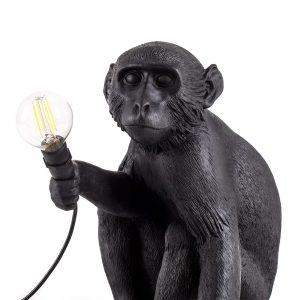 zbliżenie na lampkę małpę outdoor siedzącą