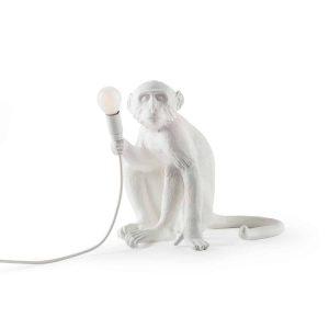 biała lampa stołowa monkey seletti