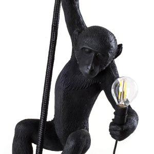 lampa wisząca czarna małpa