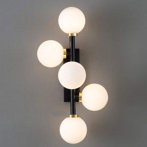 lampa na ścianę z kulami
