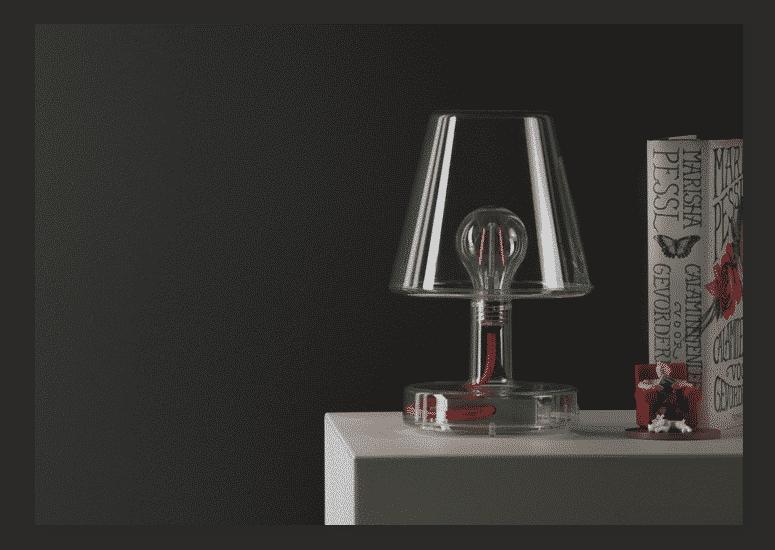 transloetje przezroczysta lampka