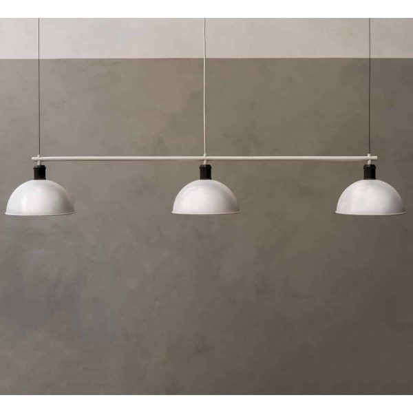 biała lampa hubert frame