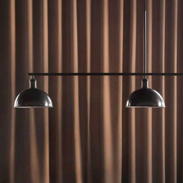 czarna lampa menu hubert 3 punktowa