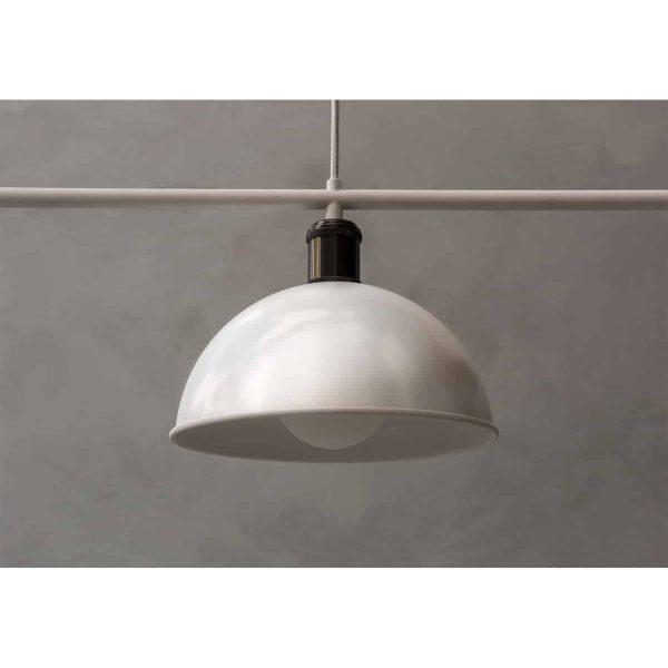 klosz białej lampy menu hubert frame