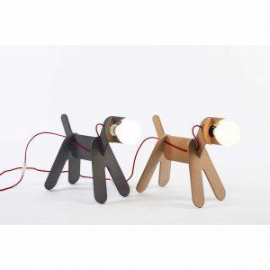 dwie lampy eno studio pies czarny i naturalny