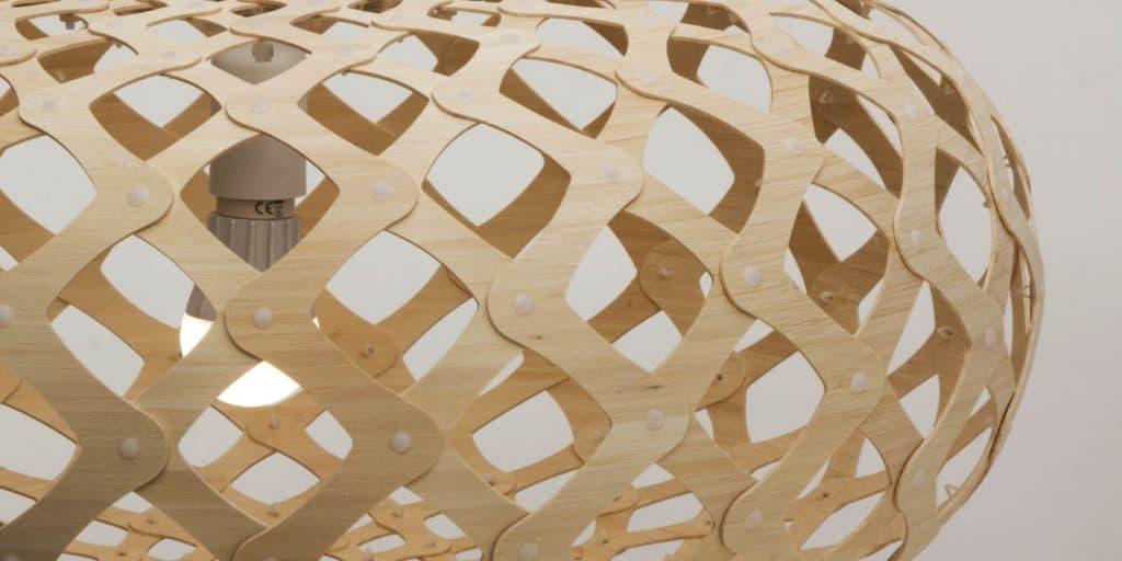 drewniana lampa david trubridge kina