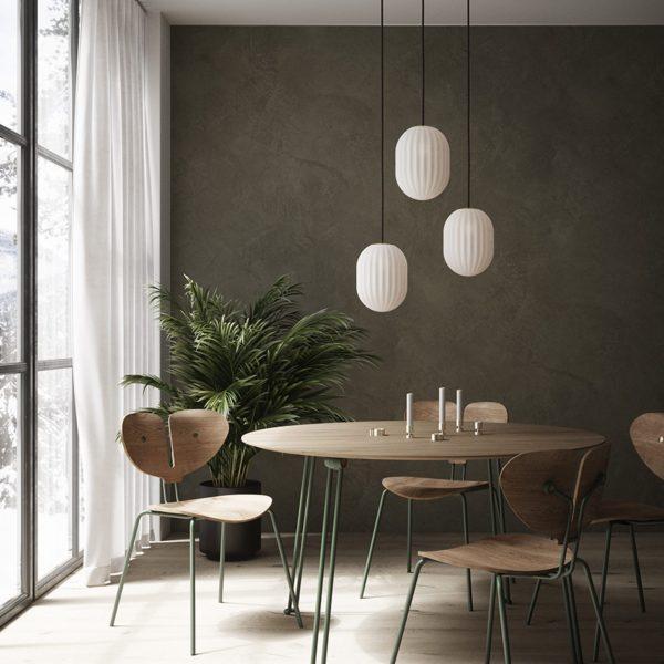 nordic tales trzy lampy wiszące modeco plus nad stołem