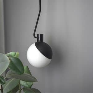 BA-C czarna sufitowa lampa baluna