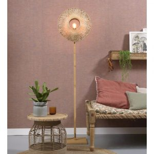 KALIMANTANFN4412BN lampa podłogowa drewniana