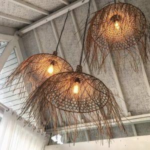 BA037N-M-40x30 trzy lampy the mykonos bazar bizar w kolorze naturalnym aranżacja w domu